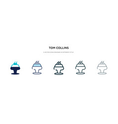 Tom collins icon in different style two colored vector