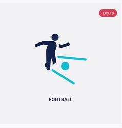 Two color football icon from brazilia concept vector