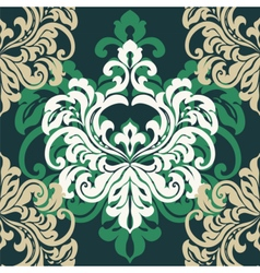 Vintage damask floral ornament vector
