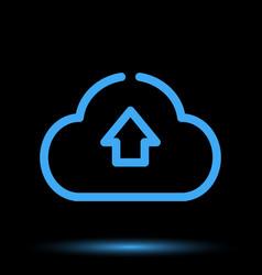 Web cloud neon icon vector