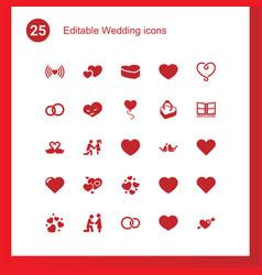 Wedding icons vector
