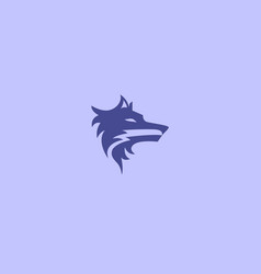 Wolf head logo icon vector