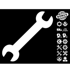 Wrench Icon with Tools Bonus vector