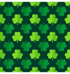 Clover shamrock leaves seamless pattern vector image vector image