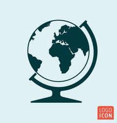 globe icon isoalted vector image vector image
