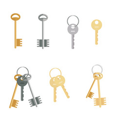 keys set isolated on white background flat vector image