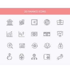 Set of thin lines financial service items icons vector image vector image