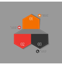 Trendy design template for infographics vector image vector image