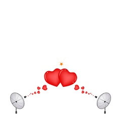 A Satellite Dish Sending A Love Sign vector image