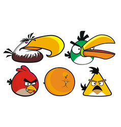 angry birds set 5 designs vector image vector image