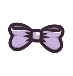 isolated cute bow vector image