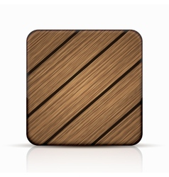 modern wooden icon vector image vector image