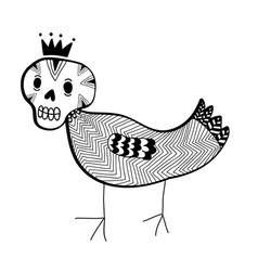 strange doodle monster vector image
