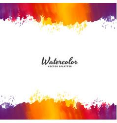 bright watercolor background design vector image