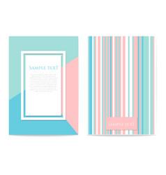 set of geometric design cards vector image