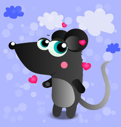 a cute mouse vector image