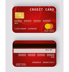 credit red vector image