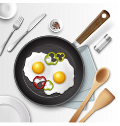 eggs for breakfast vector image vector image