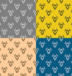 Podcast theme seamless patterns set Studio table vector image