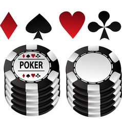Poker black counter and suit vector image