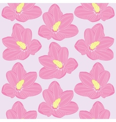 seamless floral pattern with pink flowers vector image vector image
