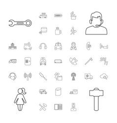 37 service icons vector