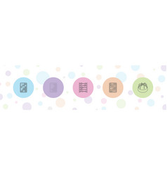5 abacus icons vector