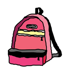 A backpack is placed vector