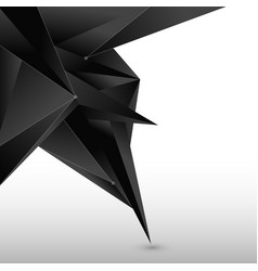 abstract 3d black polygon form with line and node vector image