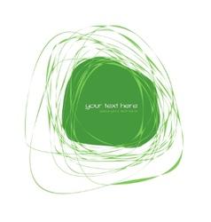 Abstract green frame vector