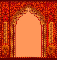 arch with oriental patterns vector image