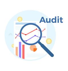 Audit analysis flat concept vector