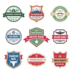 Badges Collection in Format vector