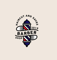 barber logo template vector image