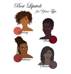 Best lipstick colors vector