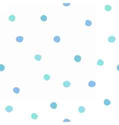 Blue dots seamless pattern vector