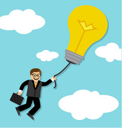 business idea and success vector image