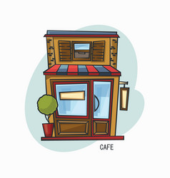 cafe or cafeteria structure or snack bar buffet vector image