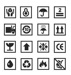 Cardboard icon white vector