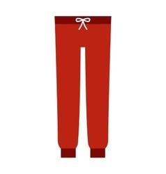 Cartoon red pants vector