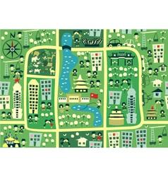 city birdseye vector image vector image