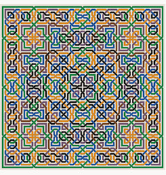 colorful pattern moorish tiled decorations vector image