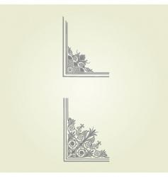 complex border elements vector image