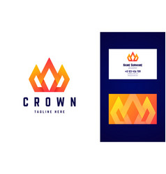 crown royal logo and business card template vector image