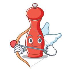 Cupid pepper mill character cartoon vector