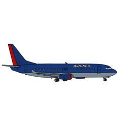 Dark blue jet airliner vector