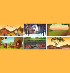 Different background scenes nature vector