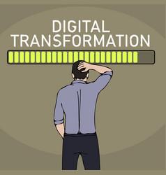 digital transformation concept business man vector image