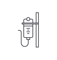 dropper line icon concept dropper linear vector image