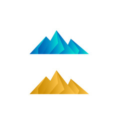 elegant low poly mountain vector image